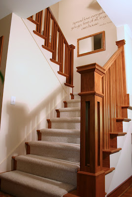 A Custom Newel Post And Tripled Balusters Add Character To A New Stair