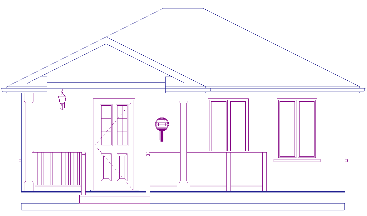 Simple Front Elevation Drawing : How to create a shadow effect on softplan elevations