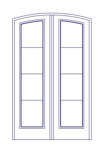 I canu0027t figure out how to show it open like this on the floorplan. This is a stock door screen grab.  sc 1 st  SoftPlan Tuts & How can I create a french (double door) with an eyebrow top ...