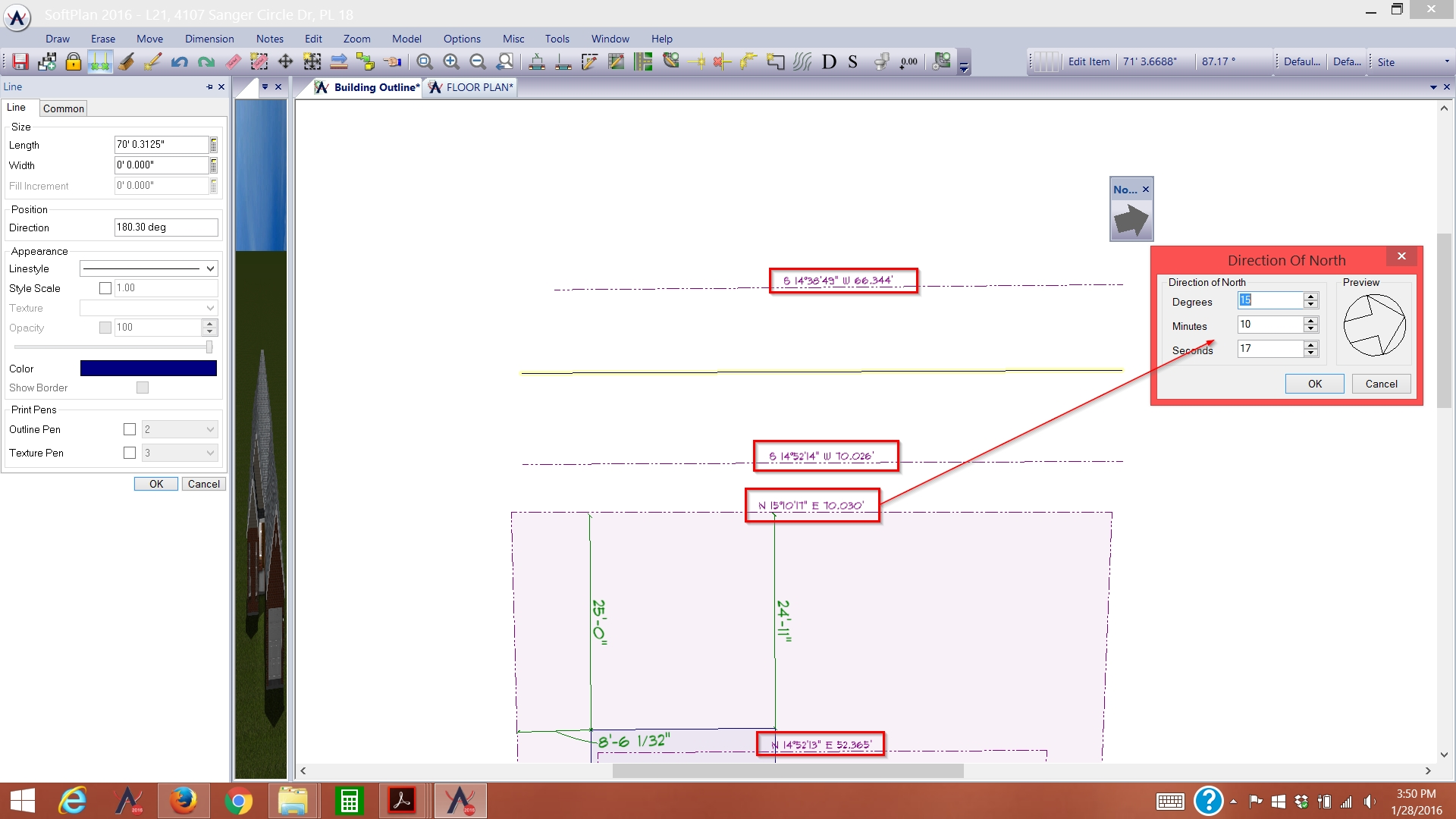Rotating Site Plan for North – Property Site Plan Software