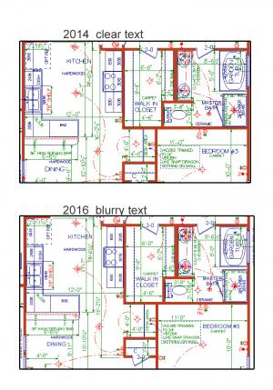 Softplan 2014 & 2016 Text Difference