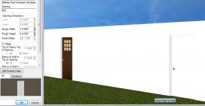 3D mode- door becomes flat w not details