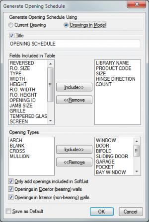 Opening Schedule Setup