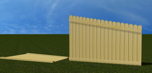 Sloped Fence