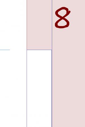 """Leave 1/8"""" between roof below when making cut"""
