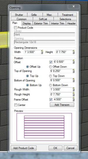 How to add block vent